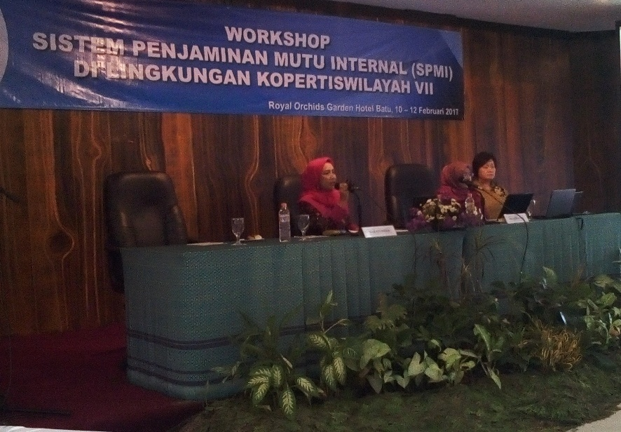 Workshop Sistem Penjaminan Mutu Internal (SPMI) di Hotel Royal Orchid Garden